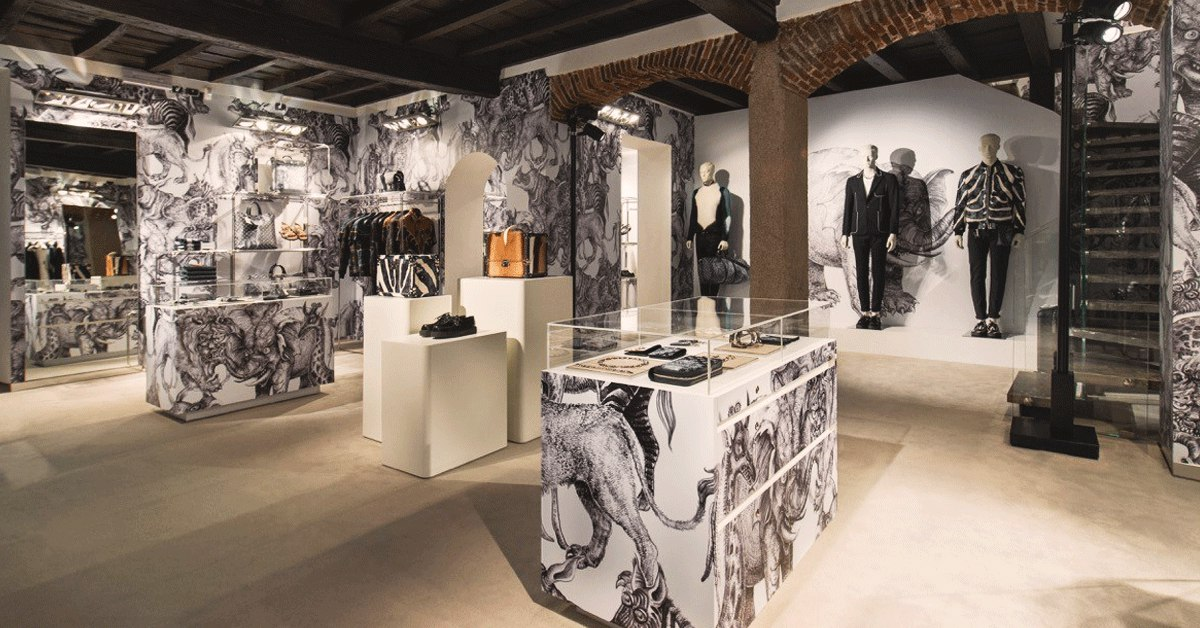 Pop Up Store de estilo gótico